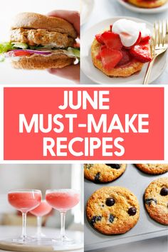 What to Cook in June | Lexi's Clean Kitchen Healthy Living Recipes, Good Healthy Recipes, Clean Eating Recipes, Real Food Recipes, Delicious Recipes, Baking Recipes, Lexi's Clean Kitchen, Make Ahead Lunches, What To Cook