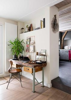 Reclaimed workspace, love the old desk. Are you looking for vintage looking art photo prints to decorate your workspace... Visit bx3foto.etsy.com