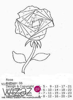 Rose en irish folding