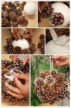 Noël toi-même ! J-18: faire des décorations en pommes de pin - Webzine Café Du Web