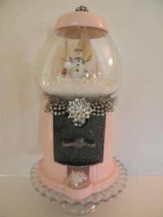 Love this idea! vintage candy dispenser repose holiday globe