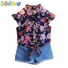 $9.75 (Buy here: https://alitems.com/g/1e8d114494ebda23ff8b16525dc3e8/?i=5&ulp=https%3A%2F%2Fwww.aliexpress.com%2Fitem%2F2016-baby-girls-clothes-Children-Girls-Summer-sets-2pcs-cartoon-casual-girls-suits%2F32627705612.html ) Sodawn Baby Girls Clothes Set Summer Style Sets Flower T Shirt + Denim Shorts 2Pcs Casual Girls Suits Kids Clothing Sets for just $9.75