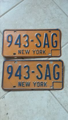 Vintage New York License Plates by 3LittleWitches on Etsy