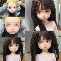 "337 curtidas, 9 comentários - Kana (@kana798) no Instagram: ""#ruruko"" Custom Barbie, Custom Dolls, Ooak Dolls, Blythe Dolls, Doll Crafts, Sewing Crafts, Doll Repaint Tutorial, Doll Costume, Little Doll"