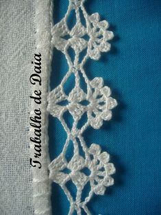 How to Crochet Wave Fan Edging Border Stitch
