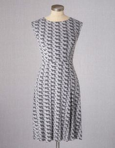 Boden-Ledbury-Dove-Bird-Dress-Blue-or-Gray-UK-16-Long-US-12-NEW