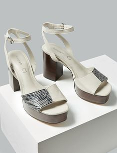 2c3e01cdb2 Heels and strappy sandals · Leather Platform Ankle Strap Sandals |  Autograph | M&S