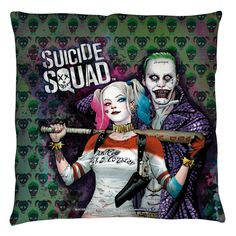 DC Comics Suicide Squad Joker & Harley Throw Pillow 16x16