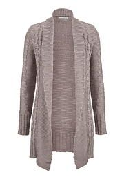 open front cable knit sweater with shimmer - maurices.com