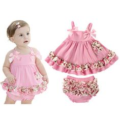 Adorable Baby Girl Outfit //Price: $23.00 & FREE Shipping // #kid #kids #baby #babies #fun #cutebaby #babycare #momideas #babyrecipes  #toddler #kidscare #childcarelife #happychild #happybaby