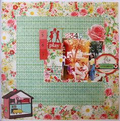 """""""Play"""" 12x12 layout using """"Emma´s Shoppe"""" collection by @create_paper  @americancrafts"""