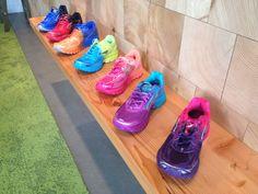 Brooks Sports Ombré running pack: Adrenaline GTS 14, Glycerin 12, Ravenna 5 and Ghost 7.  #runhappy #brooksrunning