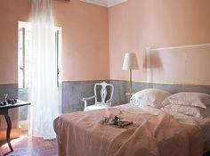 #peach #pink #grey #room #bedroom #decor #interior #design