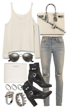 """""""Untitled #20248"""" by florencia95 ❤ liked on Polyvore featuring Yves Saint Laurent, MANGO, Ray-Ban, Isabel Marant, Jil Sander, ASOS and Loree Rodkin"""