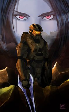 Master Chief & Cortana - HALO she is more than a memory. Cortana Halo, Master Chief And Cortana, Halo Master Chief, Halo Game, Halo 3, Halo Reach, Halo Armor, Halo Spartan, Halo Series