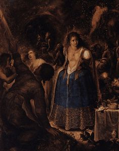 An Assembly Of Witches (detail) by Frans Francken