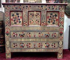 "Handmade Reproduction of Antique ""Hadley Chest"" Massachusetts, Circa 1695-1720"