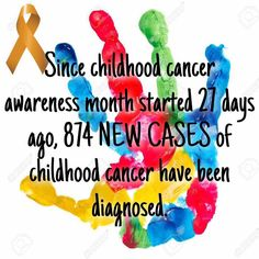 Keep the awareness alive!  Three more day to end the month strong!  #childhoodcancer