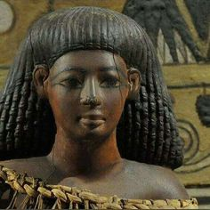 Kha's statuette,found on his high-backed chair c.a.1350 B.C. •Egyptian Museum of Turin•