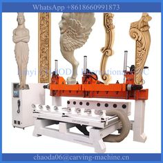 Check out this product on Alibaba.com App:Factory Direct Sale ! 5 axis 3d rotary wood duplicating machine / multi head cnc router https://m.alibaba.com/vymYbi