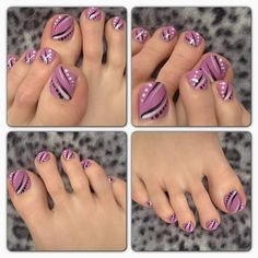 Don't let your finger nails get all the attention; take some time and bring some life to your dull toe nails with colorful toe nail art. Toenail Art Designs, Pedicure Designs, Toe Nail Designs, Pretty Toe Nails, Cute Toe Nails, Fancy Nails, Pretty Toes, Pedicure Nail Art, Toe Nail Art