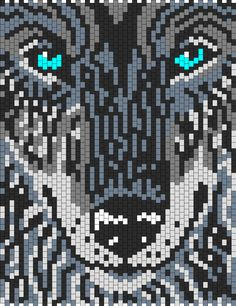 Wolf Bead Pattern | Peyote Bead Patterns | Animals Bead Patterns