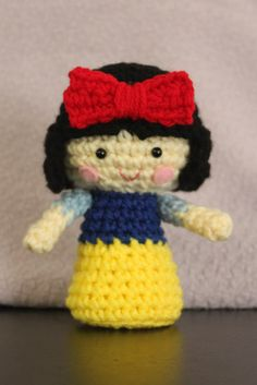 KokeshiStyle Snow White Princess Crochet Doll by MyHandmadeParade, $17.00