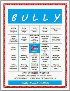 Bully Proof BINGO game