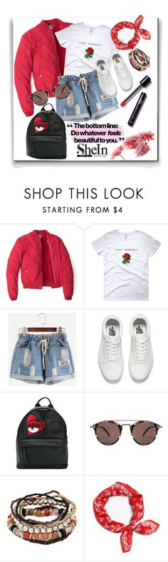 """""""shein"""" by perfex ❤ liked on Polyvore featuring Tommy Hilfiger, Vans, Chiara Ferragni, Oliver Peoples and rag & bone"""
