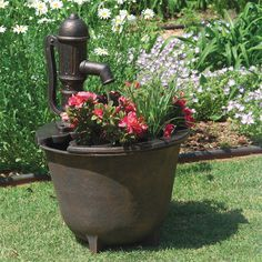 Container Gardening LittleGiant® Tuscany Classical Fountain provides an easy way to add a beautiful fountain to any home or garden. Italian-inspired fountain and planter lets you display plants of your choice. Outdoor Gardens, Container Gardening, Garden Decor, Planters, Outdoor Garden, Autumn Garden, Garden Fountains, Fall Garden Decor, Fountains