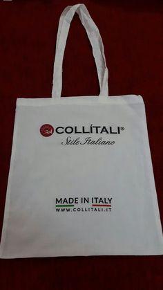 Shopper #collitali con stampa a colori.