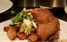 Duck Confit/Duck Fried Fingerling-House Bacon-Ramp Hash/Frisee/Ver Jus