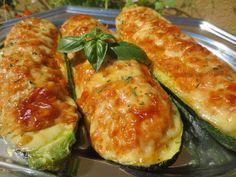 Calabacines rellenos d carne