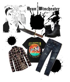 """""""Dean Winchester Outfit (male)"""" by castielsminion6 on Polyvore featuring Hollister Co., Timberland, men's fashion and menswear"""