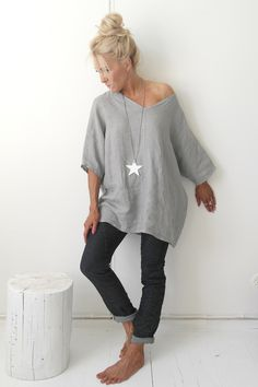 JOY Linen tunic, GREY