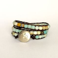 A personal favorite from my Etsy shop https://www.etsy.com/listing/516677053/amazonite-bead-bracelet-horse-lover