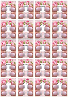 Filha única 2 Nail Patterns, Alice, Stickers, Nails, Rose, Paper, Floral, White Nail Designs, Card Templates