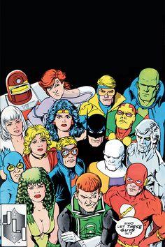 Justice League International (vol. (Feb, Art by Kevin Maguire Justice League Comics, Dc Comics Heroes, Arte Dc Comics, Comic Book Heroes, Comic Book Artists, Comic Artist, Comic Books Art, Superhero Characters, Dc Comics Characters