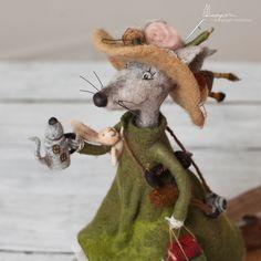 Click VISIT link for more details Needle Felted Animals, Felt Animals, Knitted Stuffed Animals, Textile Sculpture, Felt Roses, Needle Felting Tutorials, Animation, Felt Hearts, Wet Felting