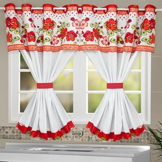 Crochet Decoracion Cortinas New Ideas Decor, Curtains Living Room, Kitchen Crafts, Curtain Patterns, Drapes Curtains, Beautiful Curtains, Curtain Decor, Kitchen Curtain Designs, Home Decor Furniture