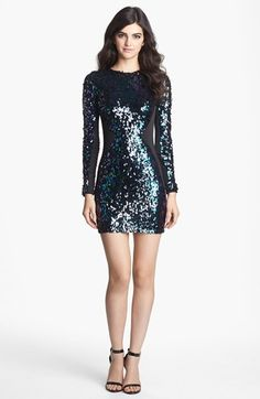 Dress the Population 'Ryan' Sequin Body-Con Dress available at #Nordstrom. I need an excuse to wear this somewhere