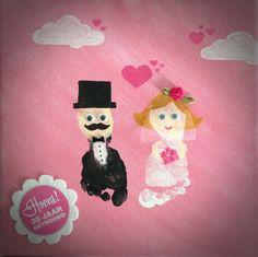 Een bruidspaar feliciteren doe je zo... Baby Crafts, Diy Crafts For Kids, Arts And Crafts, Wedding Crafts, Diy Wedding, Footprint Crafts, Handprint Art, Art Projects, Crafty