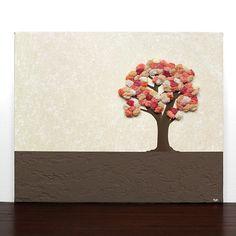 Autumn Tree Painting  Textured Acrylic on Canvas Art  by Amborela, $79.00
