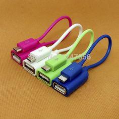Micro USB OTG Cable conexion adaptador Samsung nota 2 / 3 / 4 S5 S6 Huawei Xiaomi canción Z3 teléfono Android PC de la pestaña MP3 MP4 1 unids envío gratis