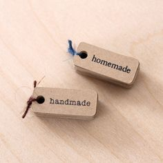 handmade kraft tags - nice package design + paper goods @ etsy