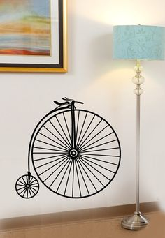 Old Fashion Antique Big Two Wheel Bicycle Bike by InfinityDecals