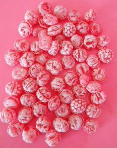 Pink candies.