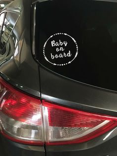Baby Muggle on Board Cute Funny Car Vinyl Decal Boat Sticker Warning Slogan