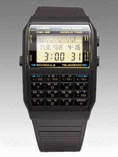 Casio Databank watch - I cannot tell you how badly I wanted this watch as a kid. My cousin had the stainless steel version but, being younger, I was still into my black plastic straps at the time. I never did get this watch :(
