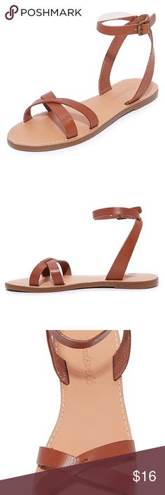NWT Madewell Boardwalk Brown Leather Sandals New with Tags. Madewell Shoes
